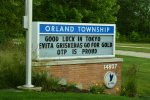 Orland Township Supervisor Paul O'Grady leads the cheers for Evita Griskenas, an Orland Park Resident, who will compete in the Tokyo Olympics. Photo courtesy of Orland Township