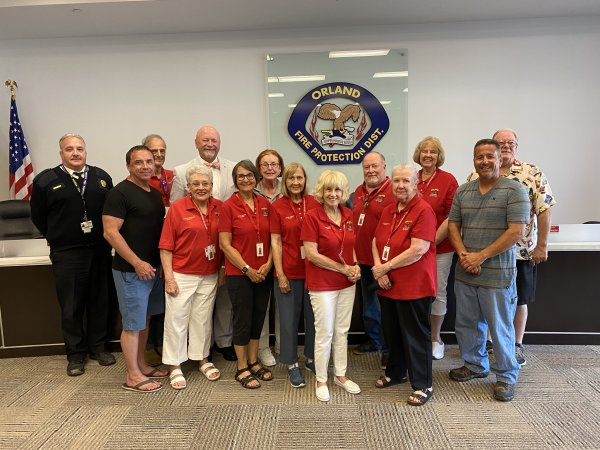OFPD Chief Michael Schofield (far left) joins members of the OFPD Board and the OFPD Senior Advisory Council Tuesday July 28, 2021. Photo courtesy of the OFPD