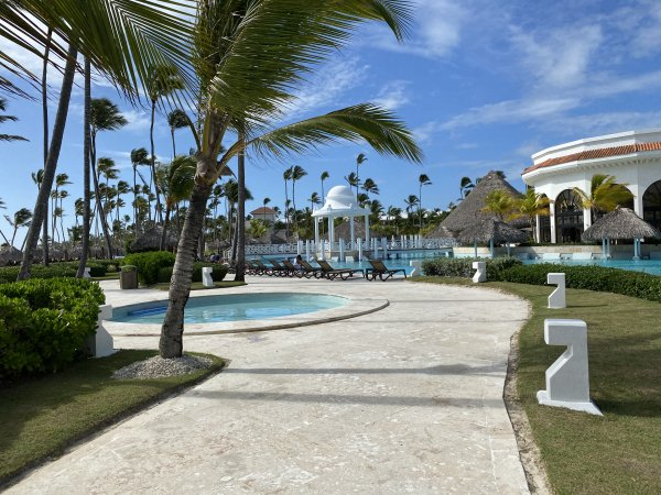 View of the baby pool near the main pool walk at the Grand Reserve Paradisus Palma Real. Photo courtesy of Ray Hanania