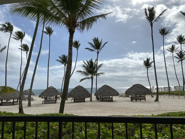 Beach view from the ocean front suite at the Grand Reserve Paradisus Palma Real. Photo courtesy of Ray Hanania