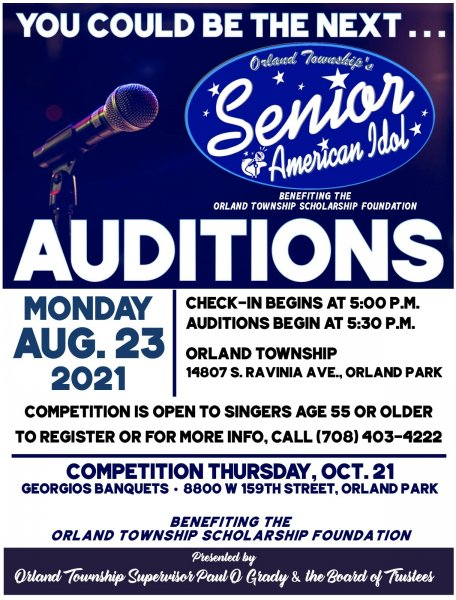 Orland Township Seniors Have Talent contest August 23, 2021