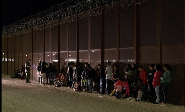 Illegal immigrants arrested by the United States Customs and Border Protection along the Mexican Border. Photo courtesy of Wikipedia