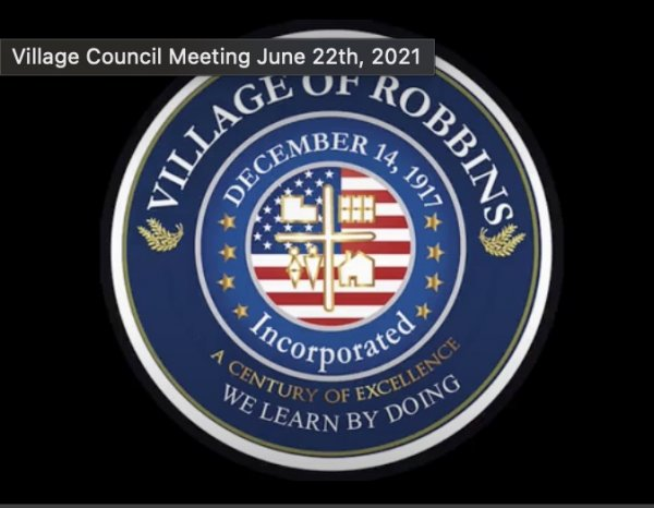 Village of Robbins Illinois official seal