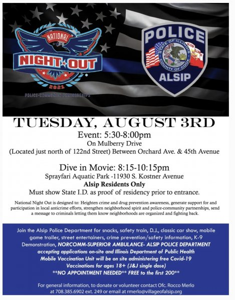 Alsip National Night Out 2021. Photo courtesy of the Village of Alsip