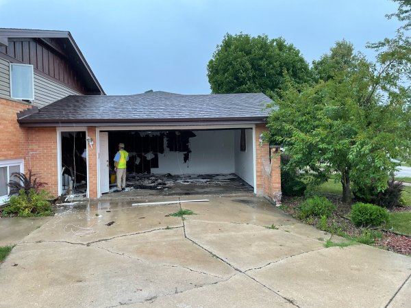 08-11-21 Garage fire Photo courtesy of the Orland Fire Protection DIstrct