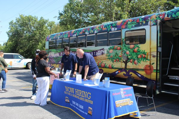 Lots of fun for kids at the Orland Township Back-to-School Health Fair Aug. 14, 2021. Photo courtesy of Steve Neuhaus.