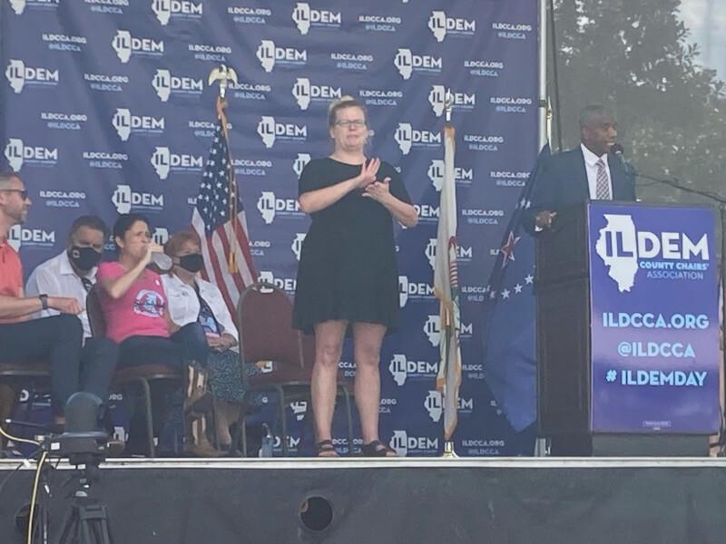 Secretary of State Candidate Moore addresses Illinois State Fair