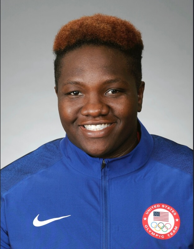 USA Olympic Team athlete Raven Saunders. Photo courtesy of the US Olympic Team official photo