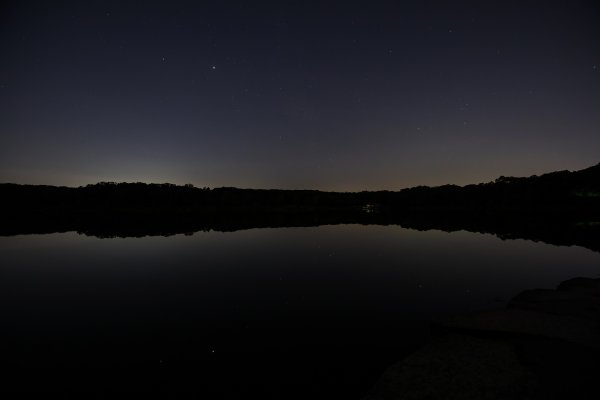 Palos Preserves Named the World's Largest Urban Night Sky Place. Over Maple Lake. Photo courtesy of the Cook County Forest Preserve District