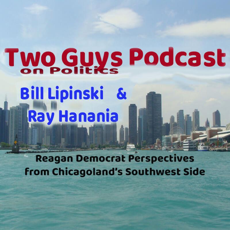 Two Guys Podcast Logo with Bill Lipinski and Ray Hanania