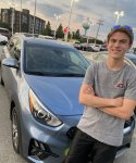Aaron the day he bought his KIA Niro, only learning weeks later that it was plagued with problems the KIA dealership is unable to fix