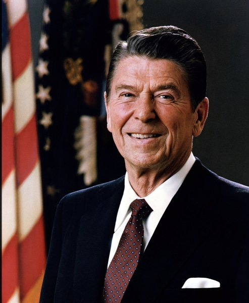 President Ronald W. Reagan, 40th President. Photo courtesy of Wikipedia