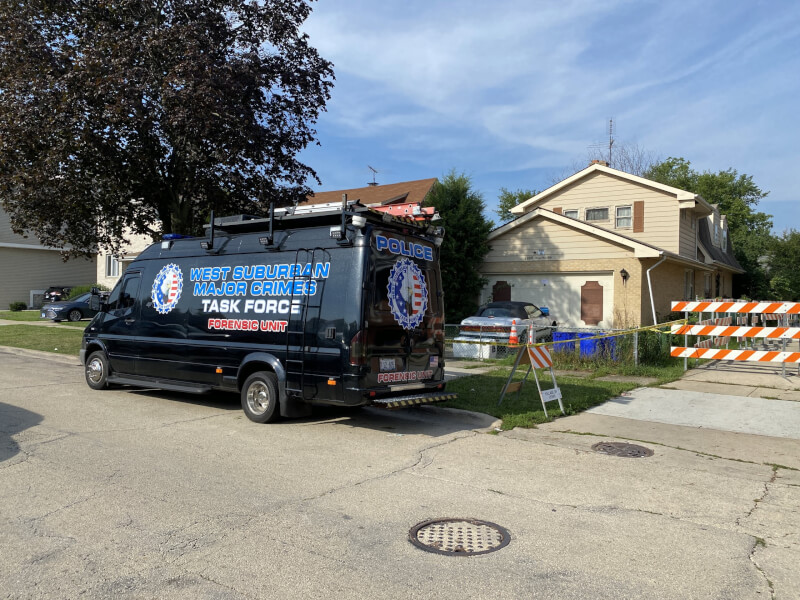 West Suburban Major Crimes Task Force forensic crime vehicle. Photo courtesy of Ray Hanania