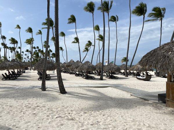View of the main beach area at the Grand Reserve Paradisus Palma Real. Photo courtesy of Ray Hanania