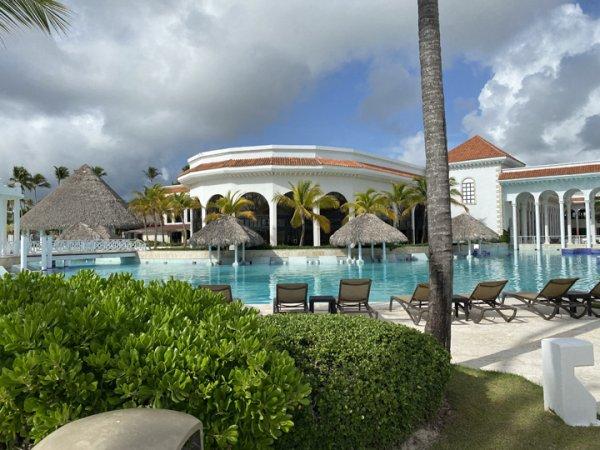 Section of the main pool area at the Grand Reserve Paradisus Palma Real. Photo courtesy of Ray Hanania