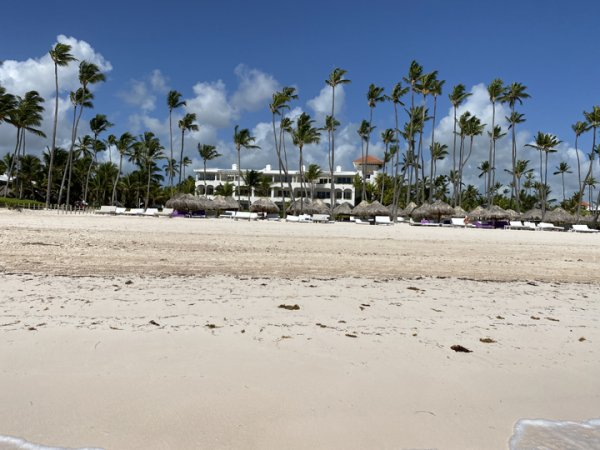 Ocean front suites building from the water at the Grand Reserve Paradisus Palma Real. Photo courtesy of Ray Hanania