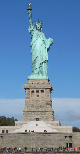 Statue of Liberty. Photo courtesy of WIkipedia