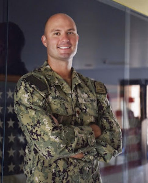 Lt. Cmdr. Emil Marcinskas, a 2003 Westmont High School graduate, joined the Navy 10 years ago. Photo by Mass Communication Specialist 1stClass Amanda Rae Moreno