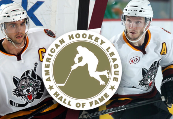 Former Wolves defenseman Nolan Baumgartner, who captained the 2012 Midwest Division champions, and former Wolves forward Keith Aucoin, who served as an assistant captain for the 2014 Midwest Division titlists, join high-scoring center Dave Creighton and legendary front office executive Bill Torrey in this year's group that will be inducted on Monday, Feb. 7, as part of the AHL's All-Star Classic festivities.